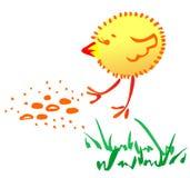 Das fröhliche Huhn Lizenzfreie Stockbilder