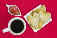 Das Frühstück des Valentinsgrußes Stockfoto