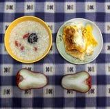 Das Frühstück eines chinesischen Studenten Stockfotos