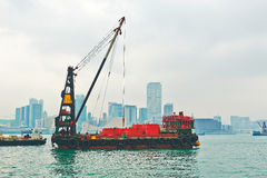 Das Frachtboot lizenzfreies stockbild