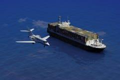 Das Frachtschiff Lizenzfreies Stockbild