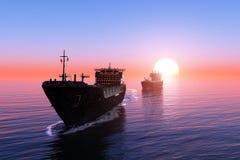 Das Frachtschiff lizenzfreies stockfoto