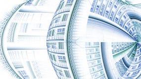 Das Fractalmuster auf Weiß Lizenzfreies Stockfoto