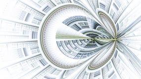 Das Fractalmuster auf Weiß Lizenzfreie Stockfotografie