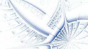 Das Fractalmuster auf Weiß Stockfotografie