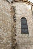 Das Fragment der Wand des Altbaus Lizenzfreie Stockbilder
