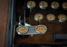 Das Fragment einer alten und Weinleseschreibmaschine Lizenzfreies Stockfoto