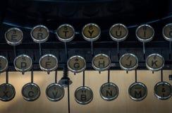 Das Fragment einer alten und Weinleseschreibmaschine Lizenzfreie Stockfotos