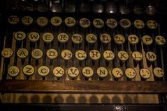 Das Fragment einer alten und Weinleseschreibmaschine Lizenzfreie Stockfotografie