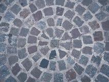 Das Fragment einer Pflasterung in Form eines Kreises Stockfoto