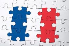 Das französische Puzzlespiel stockbilder