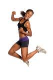 Das Frauen-Springen Stockfoto