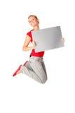 Das Frauenspringen lizenzfreie stockfotos