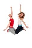 Das Frauenspringen stockfotos