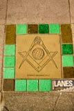Das Freimaurerquadrat und der Kompass stockfotografie