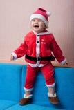 Das freundliche Kind Weihnachtsmann Stockfotos
