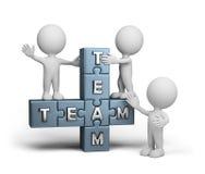 Das freundliche Team Stockfoto