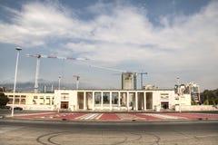 Das Fußballstadion von Tirana, Albanien lizenzfreie stockbilder