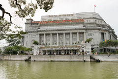 Das Fullerton Hotel Singapur Stockfotografie