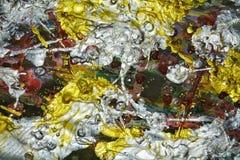 Das Funkeln von Lichtern, silberne Goldbürste streicht Aquarellfarbe Aquarellfarben-Zusammenfassungshintergrund Lizenzfreies Stockfoto