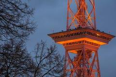 Das funkturm Berlin Deutschland am Abend Lizenzfreies Stockfoto