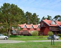 Das Gästehaus in Nida, Litauen Stockbild