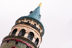 Das Galata-Turmmodell stockbild