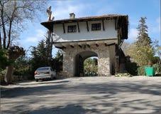Das Gatter in den botanischen Gärten von Balchik. Lizenzfreies Stockfoto