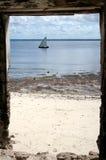 Das Gatter nach Mosambik Stockfotos