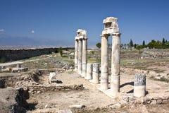 Das Gatter von altem Hierapolis, die Türkei Stockbild