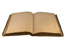 Das geöffnete alte Buch mit leeren Seiten Lizenzfreie Stockbilder