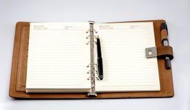 Das geöffnete Notizbuch Lizenzfreies Stockbild
