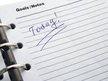 Das geöffnete Tagebuch mit einem Wort Lizenzfreie Stockfotografie