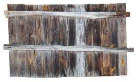 Das gealterte hölzerne Brett lokalisiert Stockbilder