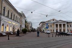 Das Gebäude der Adel-Versammlung, die das Haus der Kultur nach YM Sverdlov auf Straße Bolshaya Pokrovskaya in Nizhny Novg nannte Lizenzfreies Stockfoto