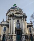 Das Gebäude der dominikanischen Kathedrale in Lemberg Stockfotografie