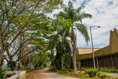 Das Gebäude der malaysischen Teefabrik Sabah borneo Lizenzfreie Stockbilder