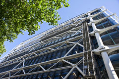Das Gebäude der Mitte Georges-Pompidou. Lizenzfreie Stockfotos