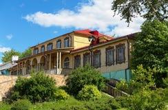 Das Gebäude des Flusshafens in Kolomna lizenzfreies stockbild