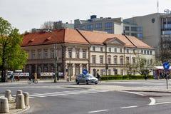Das Gebäude des Instituts der Vorhänge, Warschau stockfoto