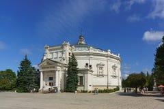 Das Gebäude des Panoramas der heroischen Verteidigung von Sewastopol im Jahre 1854-1855 auf dem historischen Boulevard Lizenzfreie Stockfotografie