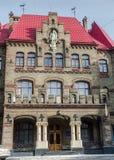 Das Gebäude ist ein alter Firehouse in Lemberg Stockfotografie