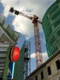 Das Gebäude ist im Bau Stockfotos