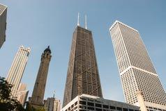 Das Gebäude John-Hancock in Chicago Stockbild