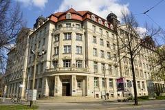 Das Gebäude Runde Ecke in Leipzig Lizenzfreies Stockfoto