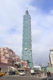 Das Gebäude Taipehs 101 Stockfotos