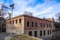 Das Gebäude von Danov-Schule vom 19. Jahrhundert, Perushtitsa, Plowdiw-Region, Bulg Lizenzfreie Stockbilder