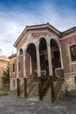 Das Gebäude von Danov-Schule vom 19. Jahrhundert, Perushtitsa, Plowdiw-Region, Bulg Stockfotografie