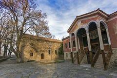 Das Gebäude von Danov-Schule vom 19. Jahrhundert, Perushtitsa, Plowdiw-Region, Bulg Lizenzfreie Stockfotografie