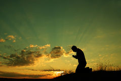 Das Gebet Stockbilder